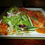 Prawns with Salad