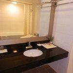 nice bathroom with amenities for women