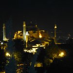 view from our room at night - Hagia Sophia