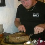 Eating the 2kg Steak