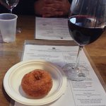 cider donut and mulled wine