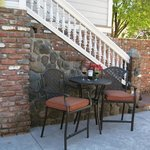 Enjoy a glass of wine on our patio