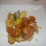 Suprême de pintade sauce foie gras