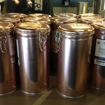 City Market -Whitefish Bay - copper coffee tins