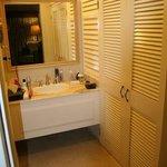 hand basin and walldrobe