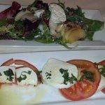 Apple walnut salad Caprese salad