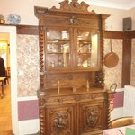 Antique wardrobe in the dining room