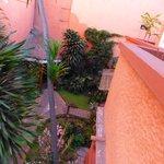 Un angolo del giardino visto da una camera