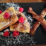 Out of this world French toast and twisted bacon