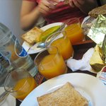 Breakfast, loved the fresh juice!
