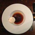 Sticky Toffee pudding and ice-cream