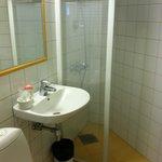 Bathroom in bottom floor annex room.