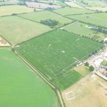 Reaseheath Maize Maze from above
