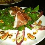 Red Spinach Salad with Serrano Ham