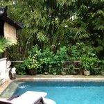 Relaxing Pool Sun Lounge area