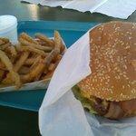 Bacon Cheeseburger and Texas Toothpicks at The Barn