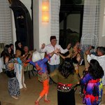 Guests joining in with the belly dancers