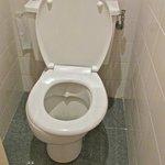 Toilet...seat askew