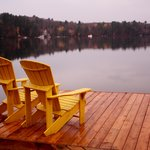 Morning dock autumn views