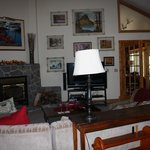 Livingroom area for B&B guests with interesting artwork
