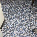 wonderful Italian tilework in main kitchen
