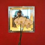 В холле красивые орхидеи