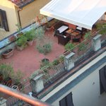 Rooftop patio from the rooftop cocktail area