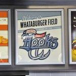 Sign on the Whataburger menu board, Whataburger Field.