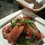 The BEST salmon and caviar salad in St. Petersburg!