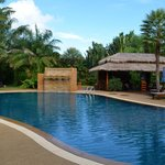 Swimming pool and outdoor bar