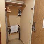 hanging space near room entry door