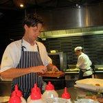 Head chef Glenn in charge.