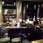 The fancy hotel lobby