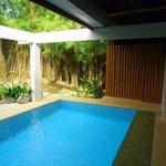 Indoor garden pool offers privacy