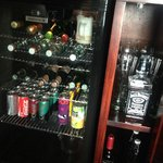 the mini bar (included)