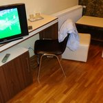 TV and chairs