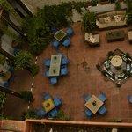 Vista dall'alto del patio