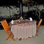 Private dinner spread