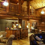 Lodge's great room; quiet with only 3 couples at the resort...