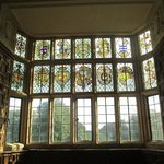 The Great Chamber with heraldic stained glass