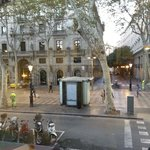 View of Le Meridien and the quiet La Rambla street at 7AM