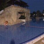 The Closed fun pool. 'La Reserva'.