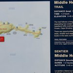 Trailhead map. Located behind keltic lodge.