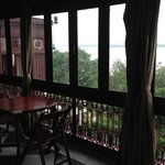 View from one of the many sitting rooms overlooking the river