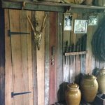 the door to our room in the longhouse