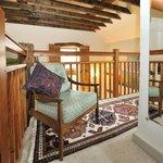 Relaxing conner in Tom's barn bedroom