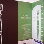 Entrada da exposição na Casa do Arco, em Vila de Frades