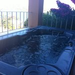 Jacuzzi on our terrace, suite 202.