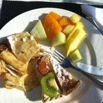The breakfast buffet was amazing.