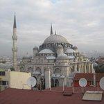 vista moschea dall'albergo